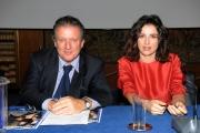 foto:IPP/Gioia Botteghi 8/11/2012  Roma presentazione  del programma di raitre Amore Criminale , nella foto Luisa Ranieri e il direttore di raitre Di Bella