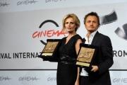 foto:IPP/Gioia Botteghi   17/11/2012 Roma Romacinemafest, premiati, nella foto:  Isabella Ferrari con il regista Paolo Franchi