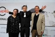 foto:IPP/Gioia Botteghi   17/11/2012 Roma Romacinemafest, premiati, nella foto:  Nader Sarhan con i genitori veri e attori del film Alì ha gli occhi azzurri