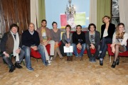 foto:IPP/Gioia Botteghi 29/11/2012 Roma, visita sul set del nuovo film di Federico Moccia UNIVERSITARI alla sua destra il produttore Marco Belardi ed il cast