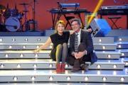 foto/IPP/Gioia Botteghi 12/01/2012 Roma, Presentazione del nuovo programma di Serena Dandini a la 7_ The Show must go off, nella foto : Dandini e Paolo Ruffini direttore de la7