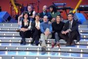 foto/IPP/Gioia Botteghi 12/01/2012 Roma, Presentazione del nuovo programma di Serena Dandini a la 7_ The Show must go off, nella foto : il cast dei comici e Paolo Ruffini direttore de la7