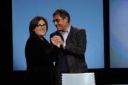 foto:IPP/Gioia Botteghi 23/12/2012 Roma,  Lucia Annunziata con il nuovo direttore di rai 3 Andrea Vianello