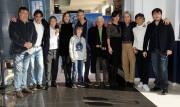 Foto/Gioia Botteghi 27/12/2012 Roma Presentazione del film MAI STATI UNITI, nella foto :il cast