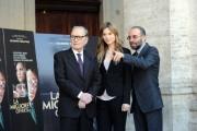 Foto/Gioia Botteghi 28/12/2012 Roma Presentazione del film La migliore offerta, nella foto: Giuseppe Tornatore, Sylvia Hoeks, Ennio Morricone