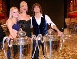 foto/IPP/Gioia Botteghi 17/03/2012 Roma, Puntata finale di Ballando con le stelle, nella foto : i vincitori Gil Andres e Anastasia Kuzmina con Milly Carlucci
