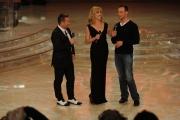 foto/IPP/Gioia Botteghi 07/01/2012 Roma, Prima punta di BALLANDO CON LE STELLE, nella foto: Milly Carlucci Paolo Belli e Oscar Pistorius