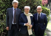 foto/IPP/Gioia Botteghi Roma, 12 aprile 2012. Rai, presentazione del David di Donatello, nella foto Ginluigi Rondi, Giancarlo Leone, Paolo Protti