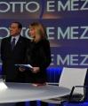 Foto/Gioia Botteghi 08/01/2013 Roma Puntata di otto e mezzo de la7 presentato da Lilly Gruber ospite Silvio Berlusconi