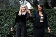 Foto/Gioia Botteghi 08/01/2013 Roma Presentazione del nuovo programma di rai uno RIUSCIRENNO I NOSTRI EROI, condotto da Max Giusti, nella foto: Laura Chiatti e Donatella Finocchiaro