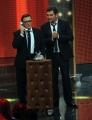 Foto/Gioia Botteghi 11/01/2013 Roma  trasmissione rai uno RIUSCIRANNO I NOSTRI EROI, nella foto: Max Giusti Cristiano Malgioglio