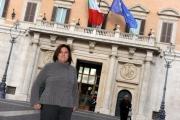 Foto/Gioia Botteghi 15/01/2013 Roma  trasmissione rai tre LEADER, condotto da Lucia Annunziata in diretta dall'hotel colonna in piazza montecitorio da venerdì 18 gennaio