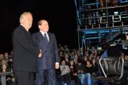 Foto/IPP/Gioia Botteghi 10/01/2013 Roma Berlusconi da Santoro