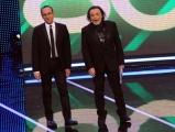 Foto/Gioia Botteghi 19/01/2013 Roma  trasmissione rai I MIGLIORI ANNI, nella foto:  Carlo Conti con Nino Frassica