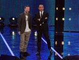 Foto/Gioia Botteghi 19/01/2013 Roma  trasmissione rai I MIGLIORI ANNI, nella foto: Marco Masini con Carlo Conti