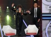 Foto/Gioia Botteghi 19/01/2013 Roma  trasmissione rai I MIGLIORI ANNI, nella foto:  Carlo Conti con Gina Lollobrigida