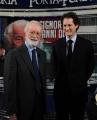 Foto/Gioia Botteghi 24/01/2013 Roma Porta a porta puntata su Agnelli, nella foto John Elkann ed Eugenio Scalfari
