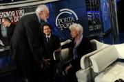 Foto/Gioia Botteghi 24/01/2013 Roma Porta a porta puntata su Agnelli, nella foto John Elkann e Maria Sole Agnelli ed Eugenio Scalfari
