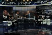 Foto/Gioia Botteghi 24/01/2013 Roma Porta a porta puntata su Agnelli, nella foto John Elkann e Maria Sole Agnelli
