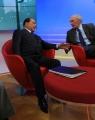 Foto/Gioia Botteghi 04/02/2013 Roma trasmissione  La7 L'aria che tira, ospite di Mirta Merlino Silvio Berlusconi con Massimo Valentini