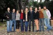 Foto/Gioia Botteghi 05/02/2013 Roma visita sul set de UNA MAMMA IMPERFETTA, 25 episodi da 8 minuti in onda su raidue ad aprile, nella foto il cast