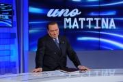 Foto/IPP/Gioia Botteghi 11/01/2013 Roma Berlusconi ad unomattina con Franco Di Mare