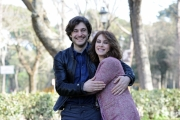 Foto/Gioia Botteghi 19/02/2013 Roma presentazione della fiction di raiuno, CHE DIO CI AIUTI 2, nella foto: Elena Sofia Ricci e Lino Guanciale
