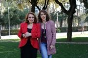 Foto/Gioia Botteghi 19/02/2013 Roma presentazione della fiction di raiuno, CHE DIO CI AIUTI 2, nella foto: Valeria Fabrizi con Elena Sofia Ricci