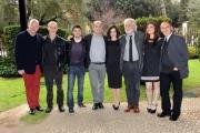 Foto/Gioia Botteghi 08/03/2013 Roma presentazione della fiction di raiuno Trilussa, nella foto il regista Lodovico Gasparini con una parte del cast