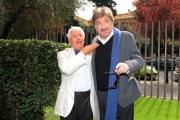 Foto/IPP/Gioia Botteghi 04/04/2013 Roma presentazione dela fiction di raiuno L'Ultimo Papa Re, nella foto: Lino Toffolo e Gigi Proietti
