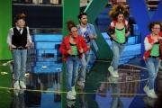 Foto/IPP/Gioia Botteghi 07/04/2013 Roma PuntataAltrimenti ci arrabbiamo, nella foto Pablo Espinosa e con i Fan Kids