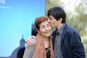 Foto/IPP/Gioia Botteghi 09/04/2013 Roma presentazione del film La città ideale, nella foto: luigi lo cascio, aida burruano la madre( ha recitato nel suo film)