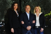 Foto/IPP/Gioia Botteghi 11/04/2013 Roma presentazione della fiction MONTALBANO, nella foto: Margareth Madè, Luca Zingaretti, Barbora Bobulova