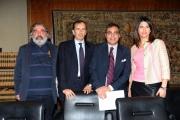 Foto/IPP/Gioia Botteghi 24/04/2013 Roma conferenza stampa del concerto del primo maggio, nella foto: Marco Godano, Luigi Gubitosi, Andrea Vianello e Geppi Cucciari