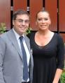 Foto/IPP/Gioia Botteghi 02/05/2013 Roma Barbara De Rossi conduce la nuova serie di rai tre Amore criminale, nella foto con il direttore di raitre Andrea Vianello