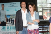 Foto/IPP/Gioia Botteghi 13/05/2013 Roma presentazione della fiction di mediaset COME UN DELFINO, nella foto: Raoul Bova e la moglie