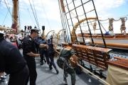 Foto/IPP/Gioia Botteghi 20/05/2013 Roma Donatella Bianchi presenta linea blu rai uno con Fabio Gallo a bordo della goletta Palinuro della marina