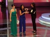 Foto/IPP/Gioia Botteghi 20/06/2013 Roma serata premio Bellisario, nella foto: Sabrina De camillis premia Giuseppina Versace con Lorena Bianchetti