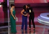 Foto/IPP/Gioia Botteghi 20/06/2013 Roma serata premio Bellisario, nella foto: Sabrina De camillis premia Giuseppina Versace