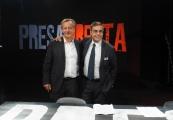 Foto/IPP/Gioia Botteghi 30/08/2013 Roma  Presentazione della nuova serie di rai tre PRESADIRETTA, nella foto: il conduttore Riccardo Jacona ed il direttore di rai tre Andrea Vianello