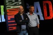 Foto/IPP/Gioia Botteghi 09/09/2013 Roma ospite della trasmissione Presadiretta Roberto Saviano con Riccardo Jacona