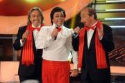 Foto/IPP/Gioia Botteghi 13/09/2013 Roma Tali e Quali Show prima puntata, nella foto:  Gabriele Cirilli con i ricchi e poveri