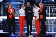 Foto/IPP/Gioia Botteghi 13/09/2013 Roma Tali e Quali Show prima puntata, nella foto: Carlo Conti e Gabriele Cirilli con i ricchi e poveri