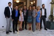 Foto/IPP/Gioia Botteghi 23/09/2013 Roma visita sul set del film TUTTA COLPA DI FREUD, nella foto: il cast