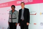Foto/IPP/Gioia Botteghi 01/10/2013 Roma Fiction fest. il Direttore del CTV, mons. Dario Edoardo Viganò, alla presenza del Ministro per l'integrazione Cecile Kyenge