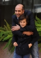 Foto/IPP/Gioia Botteghi 29/10/2013 Roma  presentazione del film sole a catinelle, nella foto Checco Zalone con  Robert Dancs