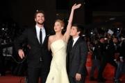 Foto/IPP/Gioia Botteghi 14/11/2013 Roma Festa del Cinema di Roma 7g, nella foto:  film Hunger Game, Liam Hemsworth, Jennifer Lawrence, Josh Hutcherson