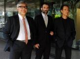 Foto/IPP/Gioia Botteghi14/11/2013 Roma presentazione del nuovo programma di raidue MASTERPIECE, nella foto: Andrea De Carlo, Giancarlo De Cataldo, Massimo Coppola