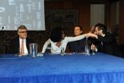 Foto/IPP/Gioia Botteghi14/11/2013 Roma presentazione del nuovo programma di raidue MASTERPIECE, nella foto: Andrea De Carlo, Giancarlo De Cataldo, Massimo Coppola, Taiye Selasi