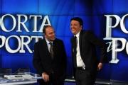 Foto/IPP/Gioia Botteghi 03/12/2013 Roma Renzi a Porta a porta si è messo al posto di Vespa